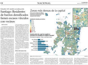 EL MERCURIO | Santiago: Residentes de barrios densificados tienen escasos vínculos con vecinos