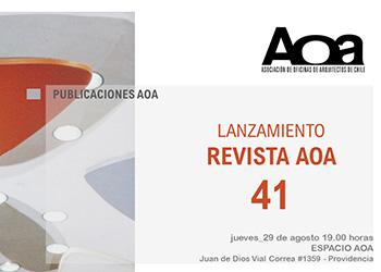 Próximo número de la revista AOA contará con textos de los profesores FADEU José Rosas y Arturo Almandoz