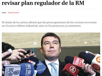 Tiltil: Medio Ambiente plantea revisar plan regulador de la RM