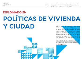 Instituto de Estudios Urbanos y Escuela de Arquitectura lanzarán Diplomado sobre Políticas de Vivienda y Ciudad