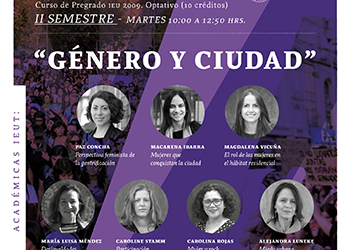 Curso Optativo de Pregrado: «Género y Ciudad»