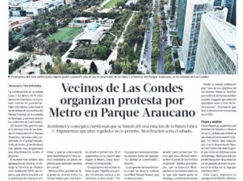 Polémica por instalación de estación de metro en Parque Araucano