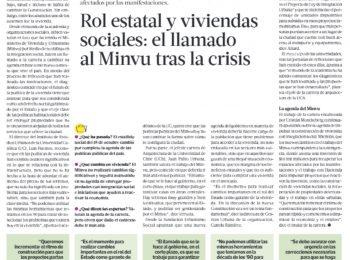 (La Tercera): Nuevo rol estatal y cambios en las políticas de viviendas sociales, el llamado al Minvu tras la crisis
