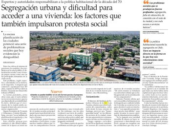 El Mercurio: segregación urbana y dificultad para acceder a una vivienda, los factores que también impulsaron protesta social