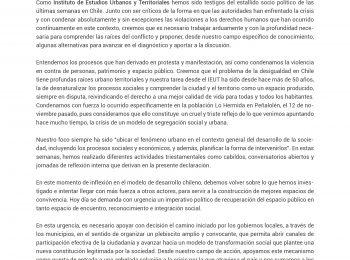 Comunicado Oficial Académicos/as IEUT-UC