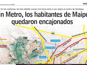 LUN: ¿Cómo se las arreglan los habitantes de Maipú desde el cierre del Metro?