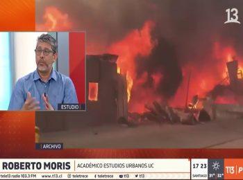 Canal 13: panel de conversación sobre Valparaíso y su permanente exposición al riesgo de incendios