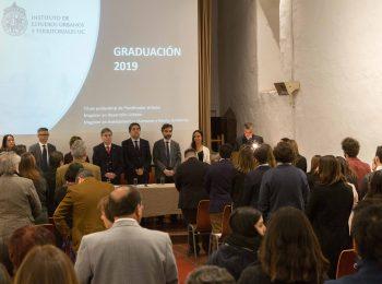 38 estudiantes de postgrado, 6 planificadores urbanos y 127 diplomados tituló el IEUT el primer semestre de 2019