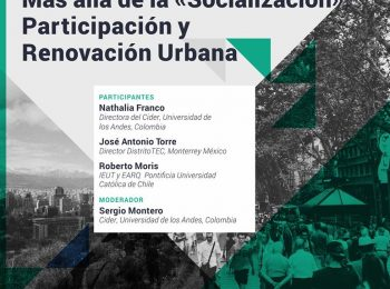 Webinar #TriadaUrbana | Más allá de la Socialización: Participación y Renovación Urbana