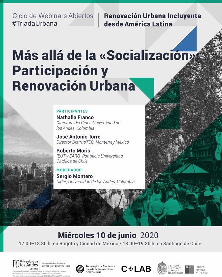 Webinar #TriadaUrbana   Más allá de la Socialización: Participación y Renovación Urbana