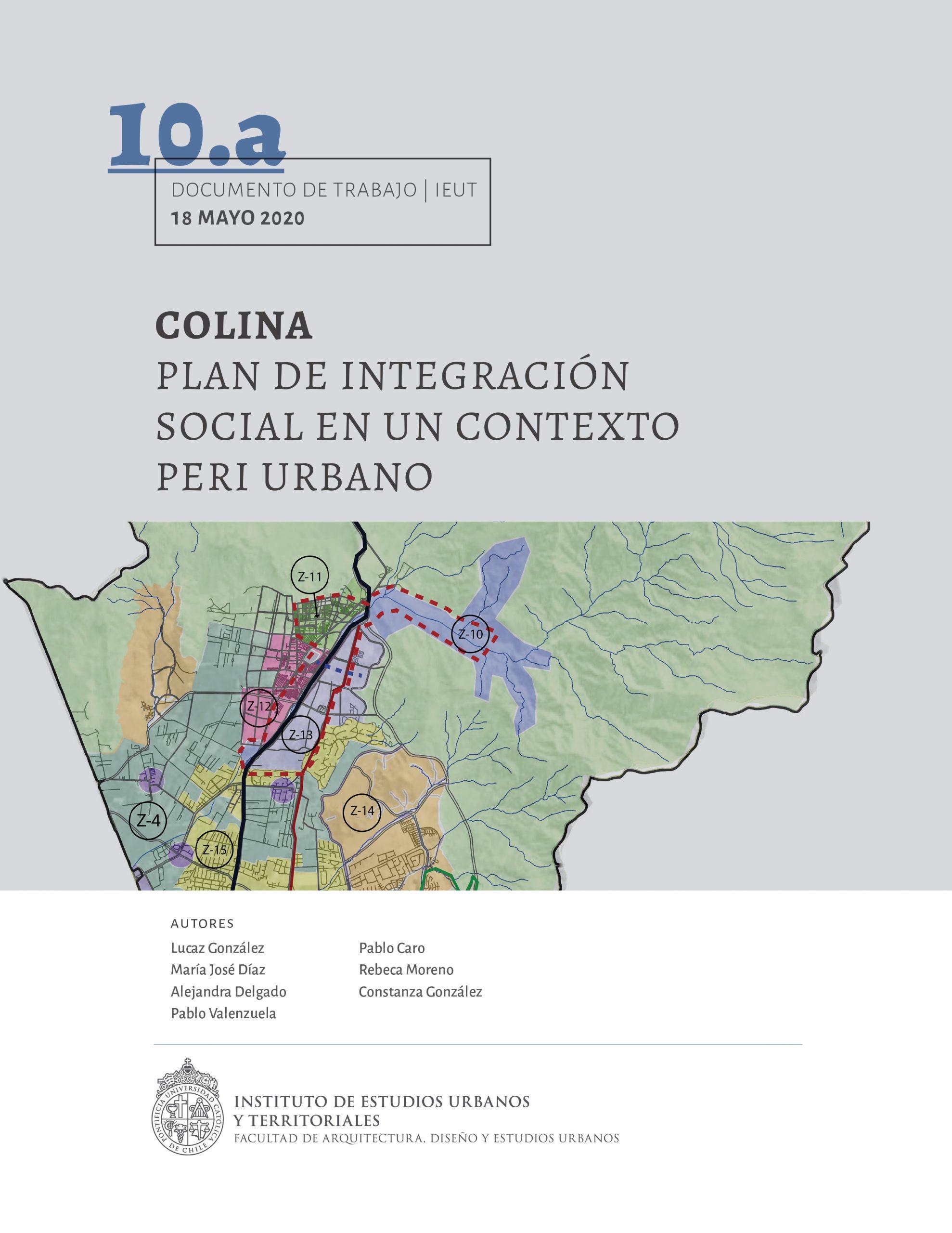 Serie Taller Integrado de Planificación – Colina