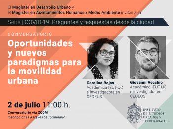 Serie   COVID-19: preguntas y respuestas desde la ciudad. Conversatorio: Oportunidades y nuevos paradigmas para la movilidad urbana