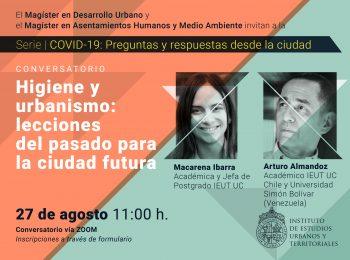 Serie   COVID-19: preguntas y respuestas desde la ciudad. Conversatorio: Higiene y urbanismo: lecciones del pasado para la ciudad futura