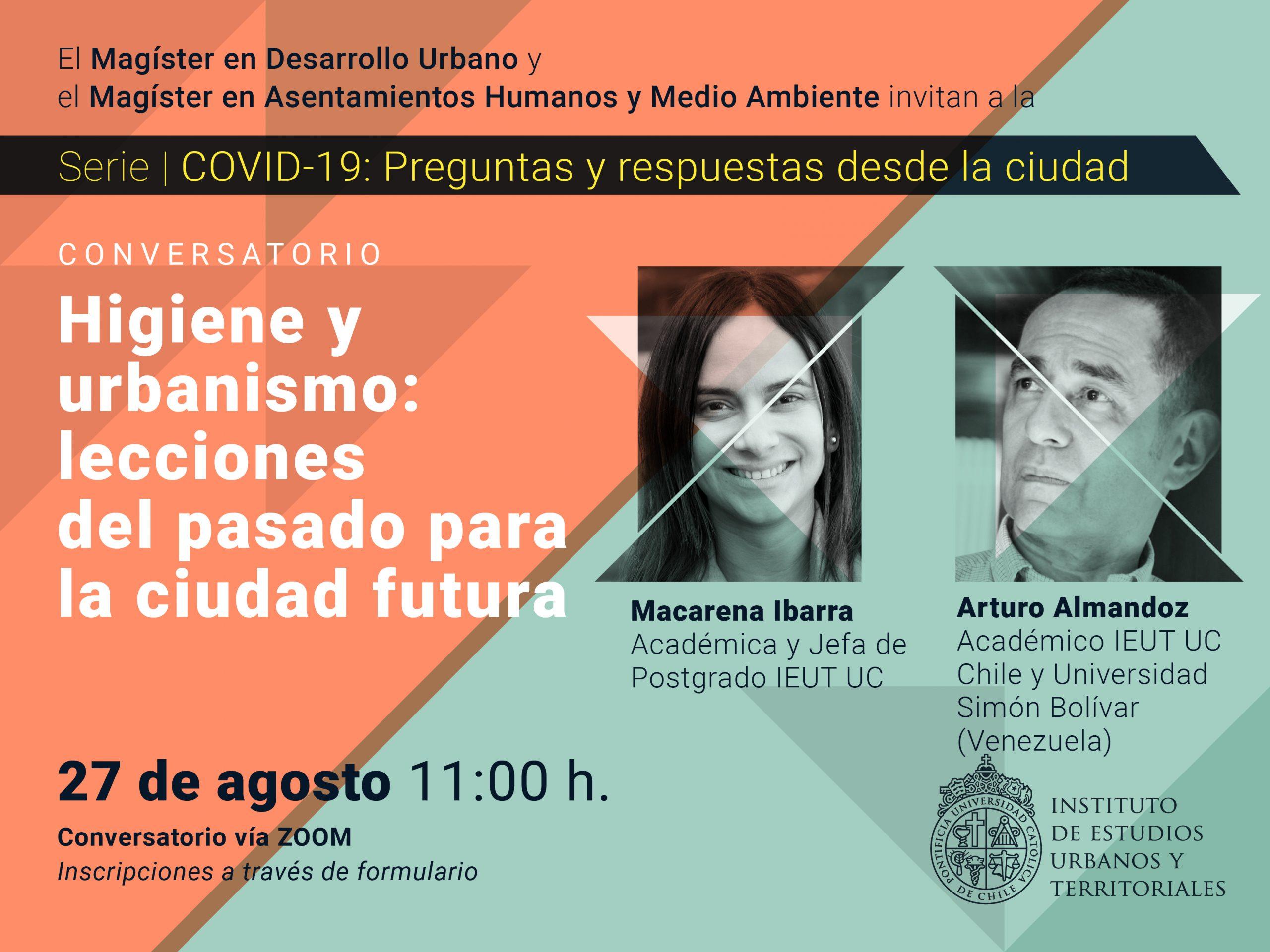 Serie | COVID-19: preguntas y respuestas desde la ciudad. Conversatorio: Higiene y urbanismo: lecciones del pasado para la ciudad futura
