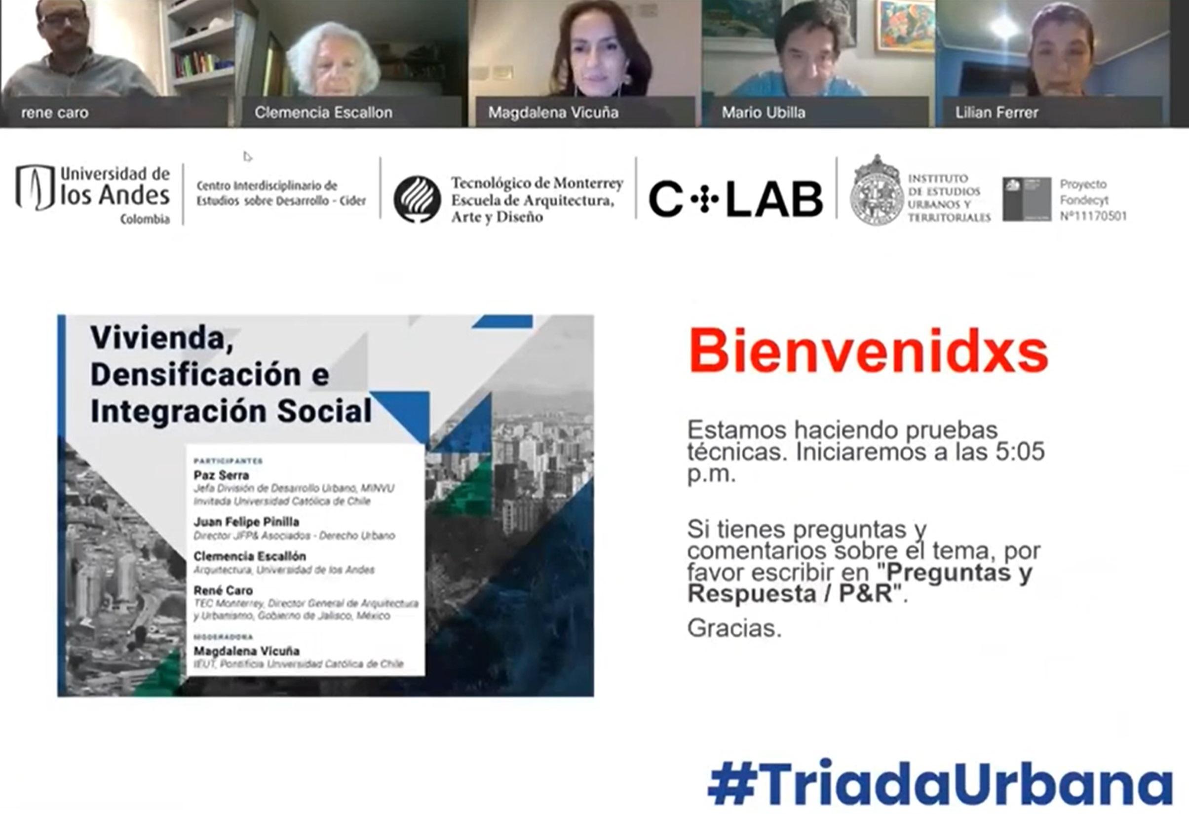 Chile, México y Colombia: Triada Urbana convocó a la reflexión en torno a la ciudad