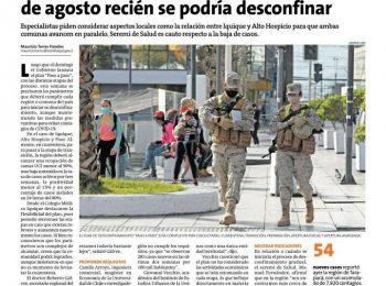 Diario La Estrella de Iquique: expertos/as advierten sobre medidas ante planes de desconfinamiento