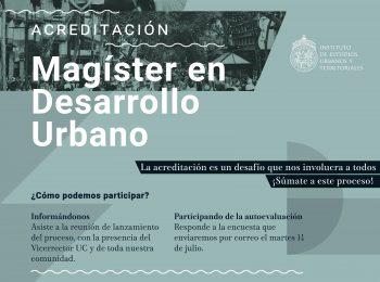 Magíster en Desarrollo Urbano inicia nuevo proceso de acreditación ante la CNA