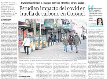 Diario El Sur (Concepción): Estudian impactos del COVID en la huella de carbono en Coronel