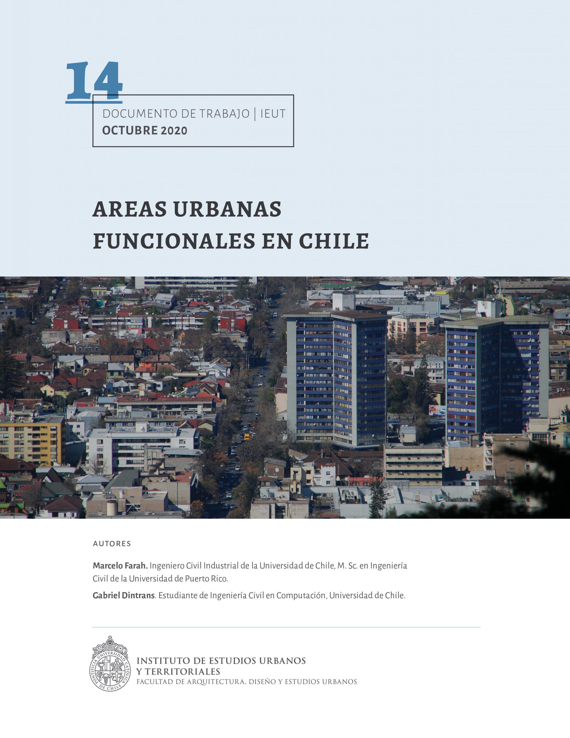 Áreas urbanas funcionales en Chile