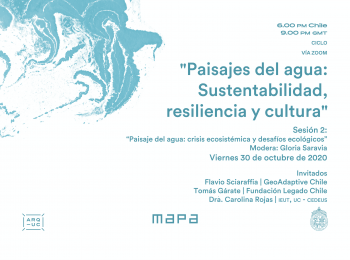 """Ciclo """"Paisajes del agua: Sustentabilidad, resiliencia y cultura"""""""