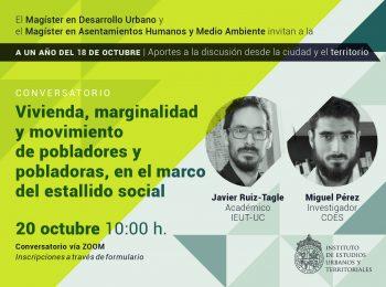 SERIE: A un año del 18 de octubre   Vivienda, marginalidad y movimiento de pobladores y pobladoras, en el marco del estallido social