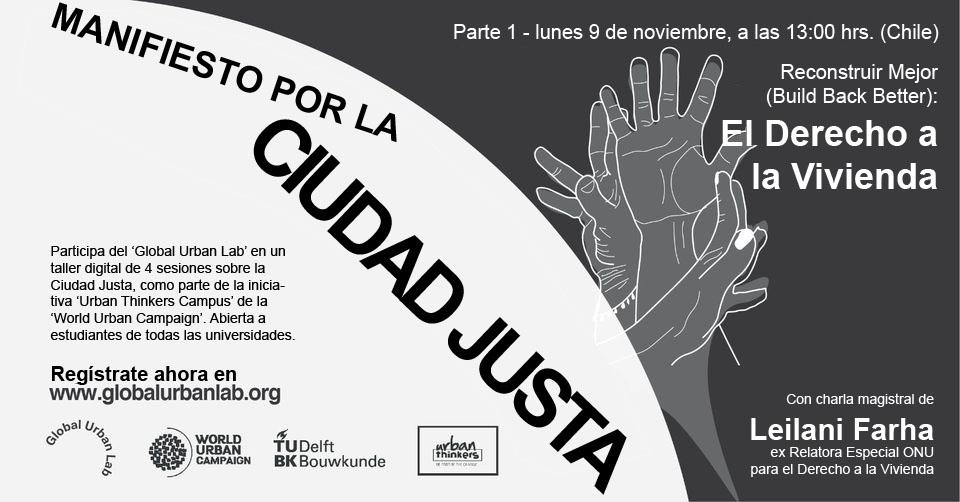 Lllamado a participar de Manifiesto por la Ciudad Justa