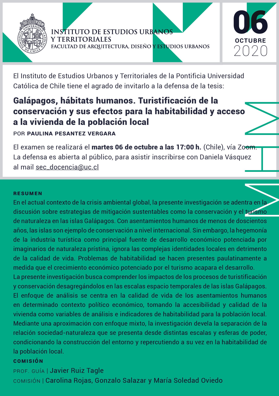 Defensa de Tesis | Paulina Pesantez Vergara