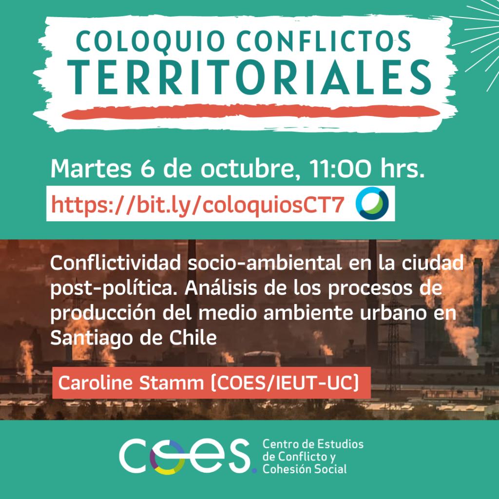 [COLOQUIO COES] Conflictos Territoriales