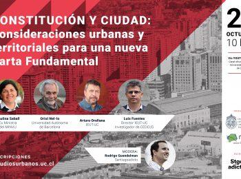 REVIVE AQUÍ |  Seminario CONSTITUCIÓN Y CIUDAD: Consideraciones urbanas y territoriales para una nueva Carta Fundamental