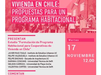 Seminario virtual Cooperativas de vivienda en Chile: propuestas para un programa habitacional