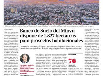 La Tercera: Banco de Suelo del Minvu dispone de 1.827 hectáreas para proyectos habitacionales