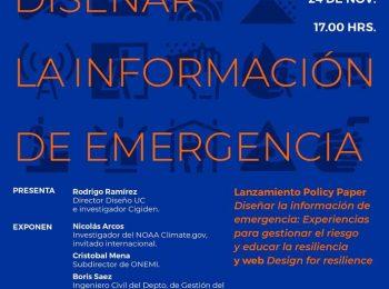 Magdalena Vicuña participó del conversatorio «Diseñar la información de emergencia»