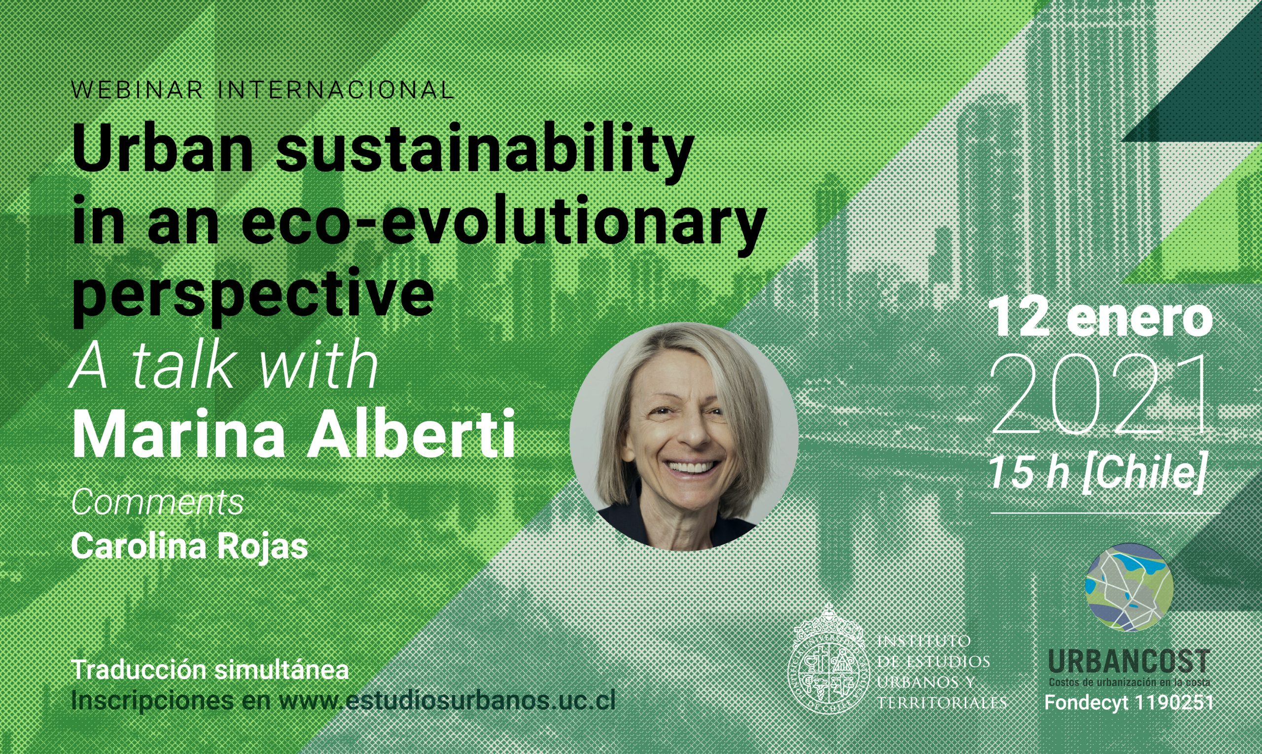 Urban sustainability in an eco-evolutionary perspective, a talk with Marina Alberti