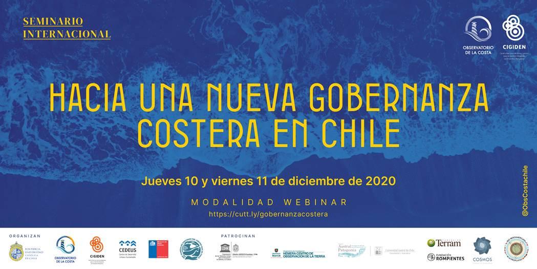 """Seminario internacional Observatorio de la Costa – CIGIDEN: """"Hacia una nueva gobernanza costera en Chile"""""""