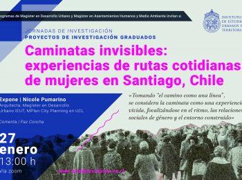 Caminatas invisibles: experiencias de rutas cotidianas de mujeres en Santiago, Chile