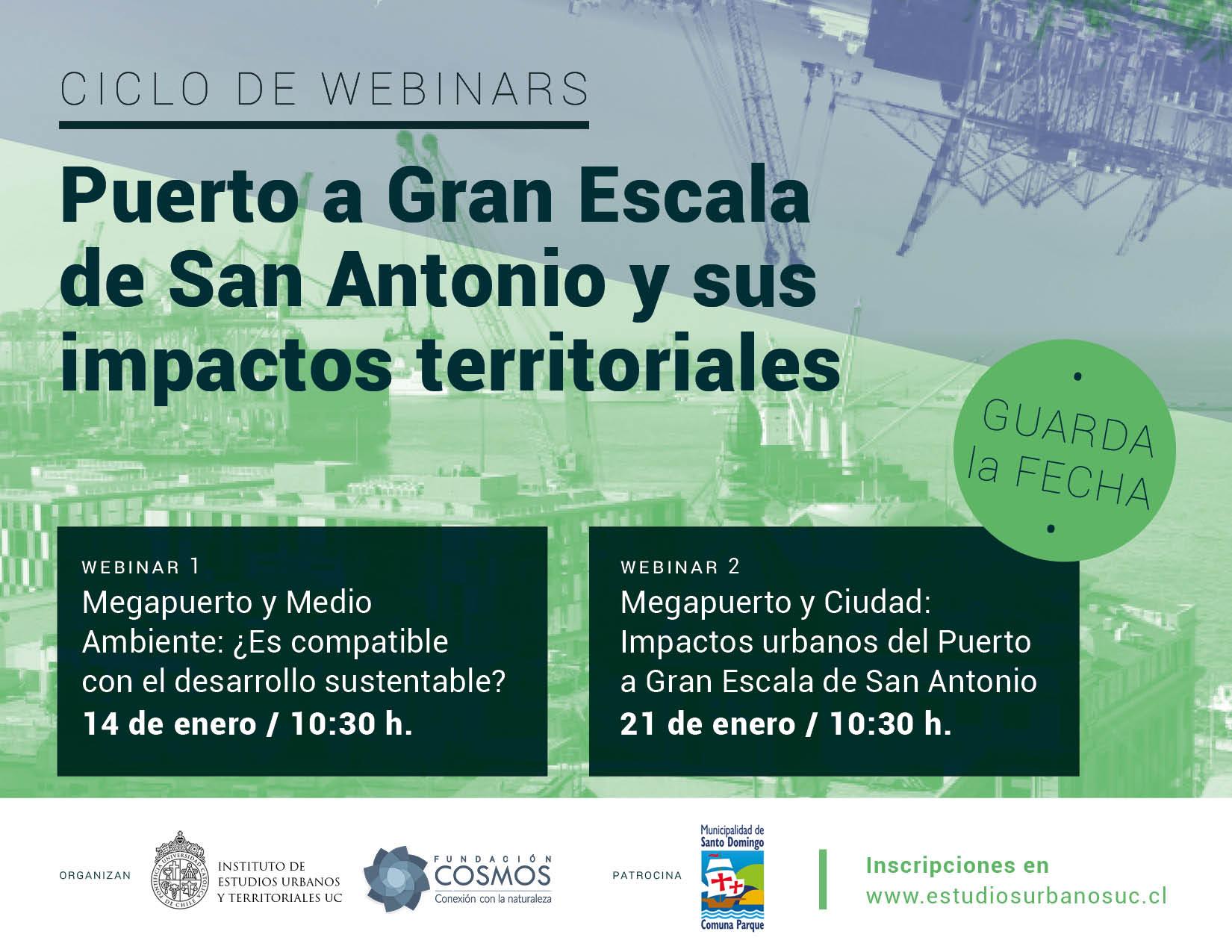 Revive aquí | Ciclo webinars Puerto a Gran Escala de San Antonio y sus impactos territoriales