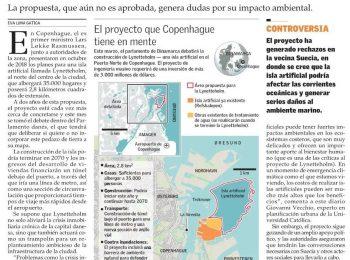 El Mercurio: Lynetteholm, la polémica isla artificial que Dinamarca planea construir
