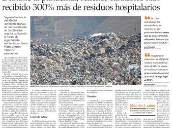El Mercurio: Durante la pandemia, rellenos sanitarios han recibido 300% más de residuos hospitalarios