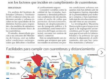 El Mercurio: Confinamiento se dificulta según condiciones sociales y urbanas