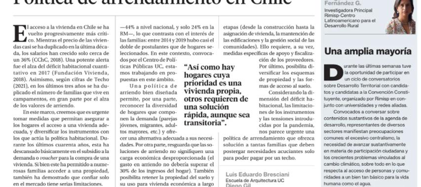 Política de Arriendo en Chile, Instituto de Estudios Urbanos y Territoriales UC