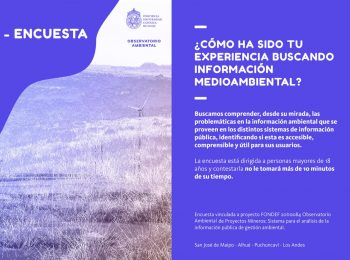 Encuesta Fondef Observatorio Ambiental ¿Cómo ha sido tu experiencia buscando información medioambiental?