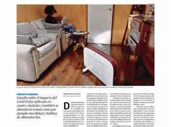"""Diario Austral Los Ríos: """"Hogares valdivianos han subido en 6% sus emisiones"""". Publican resultados del proyecto Anid-COVID19 dirigido por Carolina Rojas."""