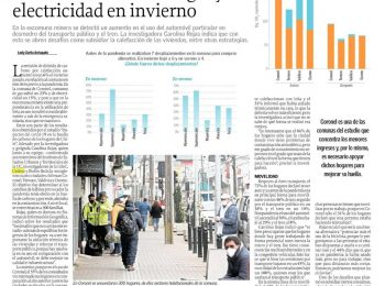 Diario El Sur (Concepción): Estudio de huella Covid arroja un aumento de uso de gas y electricidad en invierno