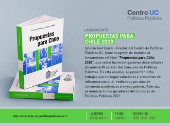 Invitación al lanzamiento del libro Propuestas para Chile 2020
