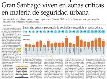 El Mercurio: Cerca de 1, 6 millones de personas del Gran Santiago viven en zonas críticas en materia de seguridad urbana