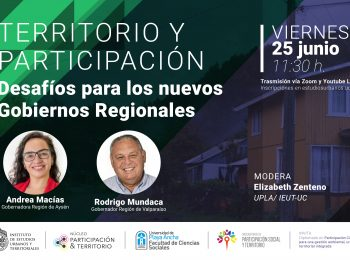 Conversatorio: Territorio y Participación | Desafíos para los nuevos Gobiernos Regionales