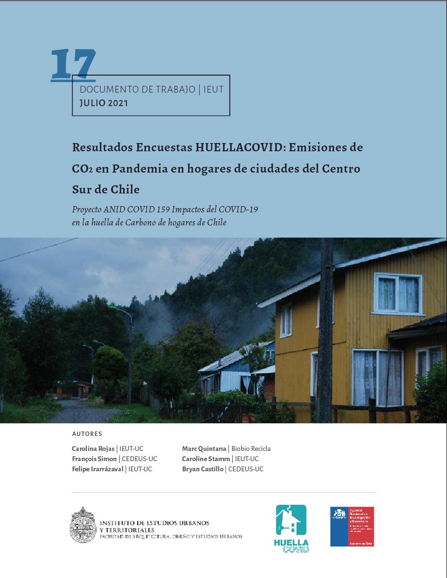 Resultados Encuestas HUELLACOVID: Emisiones de CO2 en Pandemia en hogares de ciudades del Centro Sur de Chile