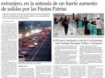 El Mercurio: Ministro Paris recomienda evitar viajes al extranjero, en la antesala de un fuerte aumento de salidas por las Fiestas Patrias
