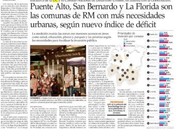 El Mercurio: Puente Alto, San Bernardo y La Florida son las comunas de RM con más necesidades urbanas, según nuevo índice de déficit
