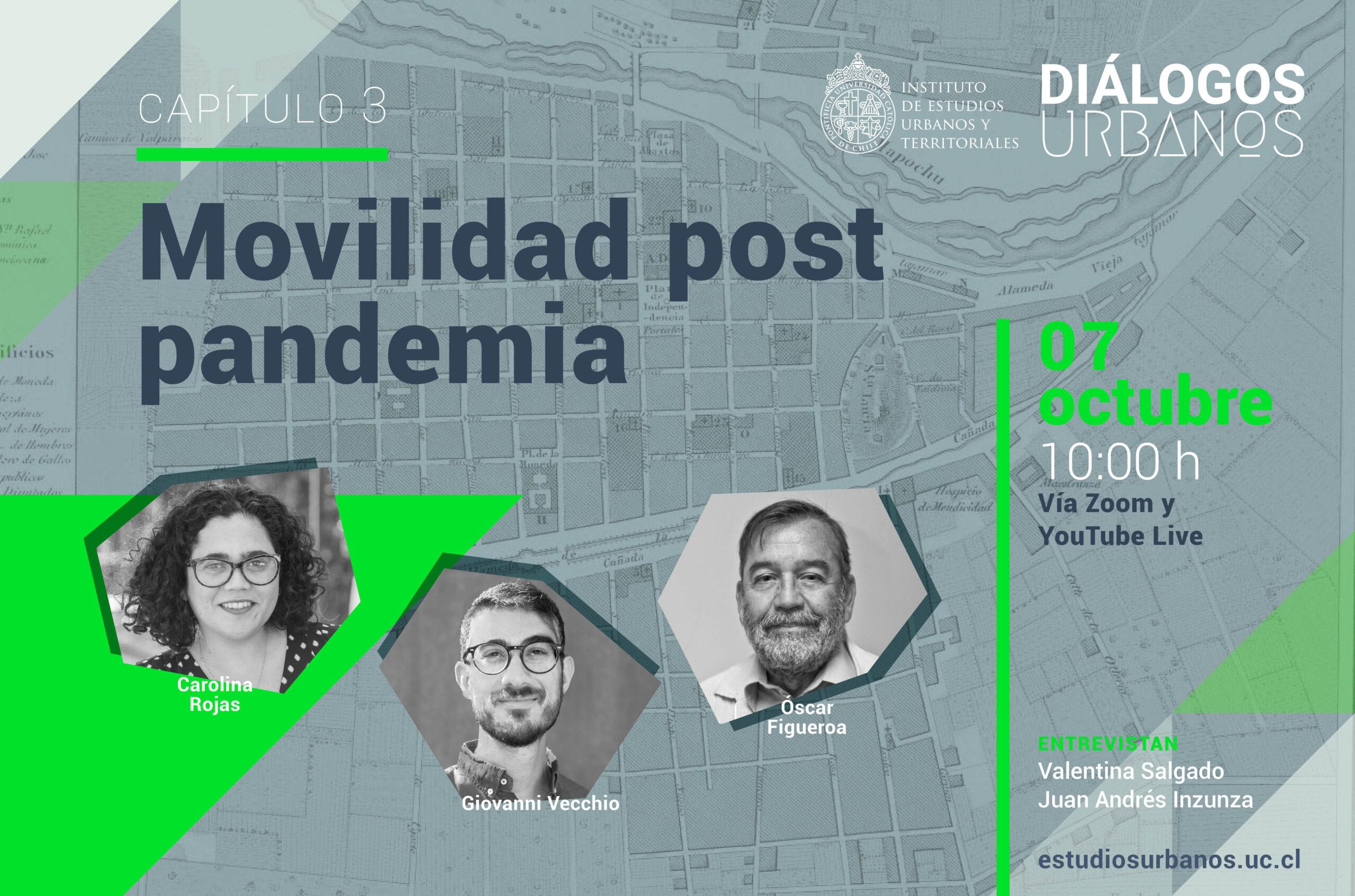 Serie DiálogosUrbanos III: Movilidad post pandemia